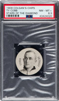 Baseball Cards:Singles (Pre-1930), 1909 E254 Colgan's Chips Ty Cobb PSA NM-MT+ 8.5 - Pop One, Only One Higher. ...