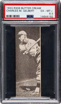 Baseball Cards:Singles (1930-1939), 1933 Butter Cream Charles Gelbert PSA EX-MT+ 6.5 - Pop One, NoneHigher! ...