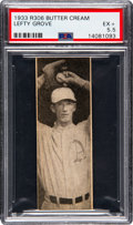 Baseball Cards:Singles (1930-1939), 1933 Butter Cream Lefty Grove PSA EX+ 5.5 - Pop One, Only OneHigher. ...