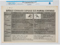 Explorers:Space Exploration, NASA Diagram: Apollo Command Capsule SCS Manual Controls Signed by Neil Armstrong and John Woodland, March 22, 1963, Directly ...