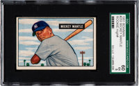 1951 Bowman Mickey Mantle #253 SGC 60 EX 5