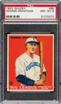 Baseball Cards:Singles (1930-1939), 1933 Goudey George Grantham #66 PSA NM-MT 8 - Only One Higher....