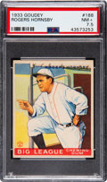 Baseball Cards:Singles (1930-1939), 1933 Goudey Rogers Hornsby #188 PSA NM+ 7.5....