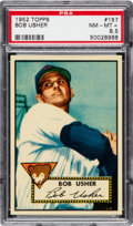 Baseball Cards:Singles (1950-1959), 1952 Topps Bob Usher #157 PSA NM-MT+ 8.5. Graded