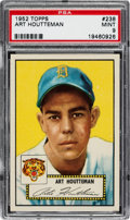 Baseball Cards:Singles (1950-1959), 1952 Topps Art Houtteman #238 PSA Mint 9 - Pop Four, None ...
