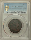 1804 1C -- Environmental Damage -- PCGS Genuine. Good Details. NGC Census: (0/0 and 0/0+). PCGS Population: (27/161 and...