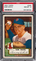 Baseball Cards:Singles (1950-1959), 1952 Topps Sam White #345 PSA NM-MT 8....