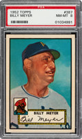 Baseball Cards:Singles (1950-1959), 1952 Topps Billy Meyer #387 PSA NM-MT 8....