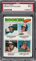 Baseball Cards:Singles (1970-Now), 1977 Topps Andre Dawson/Rookie Outfielders #473 PSA Mint 9. ...