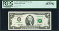 Small Size:Federal Reserve Notes, Low Serial Number 8 Fr. 1937-K* $2 2003 Federal Reserve Star Note. PCGS Gem New 65PPQ.. ...