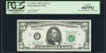 Minor Shifted Third Printing Error Fr. 1970-F $5 1969A Federal Reserve Note. PCGS Gem New 66PPQ