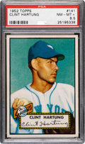 Baseball Cards:Singles (1950-1959), 1952 Topps Clint Hartung #141 PSA NM-MT+ 8.5 - Pop Two, Only OneHigher....