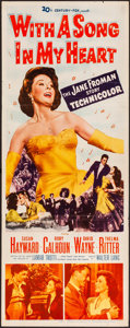 "Movie Posters:Musical, With a Song in My Heart & Other Lot (20th Century Fox, 1952). Folded, Overall: Very Fine-. Insert (14"" X 36"") & Australian D... (Total: 2 Items)"