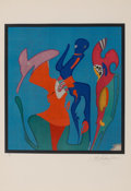Works on Paper:Print, Mihail Chemiakin (Russian, b. 1943). Metaphysical Head, circa 1980. Lithograph in colors on paper. 23-1/4 x 21-1/4 inche...
