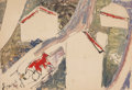 Works on Paper:Drawing, Anatoly Zverev (Russian, 1931-1986). Kolhoz, 1958. Watercolor, gouache, and ink on paper. 15-1/2 x 22-1/8 inches (39.4 x...