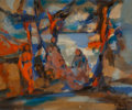 Paintings:Contemporary, Marcel Mouly (French, 1918-2008). Baigneuses, 1963. Oil on canvas. 15-1/4 x 18-1/2 inches (38.7 x 47.0 cm). Signed and d...