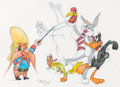 Animation Art:Production Drawing, Virgil Ross - Bugs Bunny and Friends Drawing Original Art (WarnerBros., 1990's)....