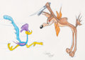 Animation Art:Production Drawing, Virgil Ross - Wile E. Coyote and Road Runner Drawing Original Art (Warner Brothers, c. 1990s)....