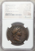 Ancients:Roman Imperial, Nero (AD 54-68). Orichalcum sestertius (35mm, 28.11 gm, 6h...
