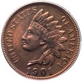Proof Indian Cents, 1901 1C PR66 Red and Brown PCGS. Eagle Eye Photo Seal. PCGS Population: (53/12). NGC Census: (23/7). PR66. Mintage 1,985....