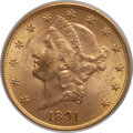 Liberty Double Eagles: , 1891-S $20 MS63 PCGS. CAC. PCGS Population: (1003/144). NGC Census: (532/72). CDN: $1,700 Whsle. Bid for problem-free NGC/P...