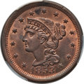 1853 1C MS65 Red and Brown PCGS. CAC. PCGS Population: (121/16). NGC Census: (96/29). MS65. Mintage 6,641,131