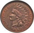 Indian Cents: , 1888 1C MS66 Red and Brown NGC. NGC Census: (7/0). PCGS Population: (2/0). CDN: $1,400 Whsle. Bid for problem-free NGC/PCGS...