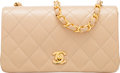 "Luxury Accessories:Bags, Chanel Beige Quilted Lambskin Leather Mini Shoulder Bag with Gold Hardware. Condition: 2. 7.5"" Width x 4.5"" Height x 2..."