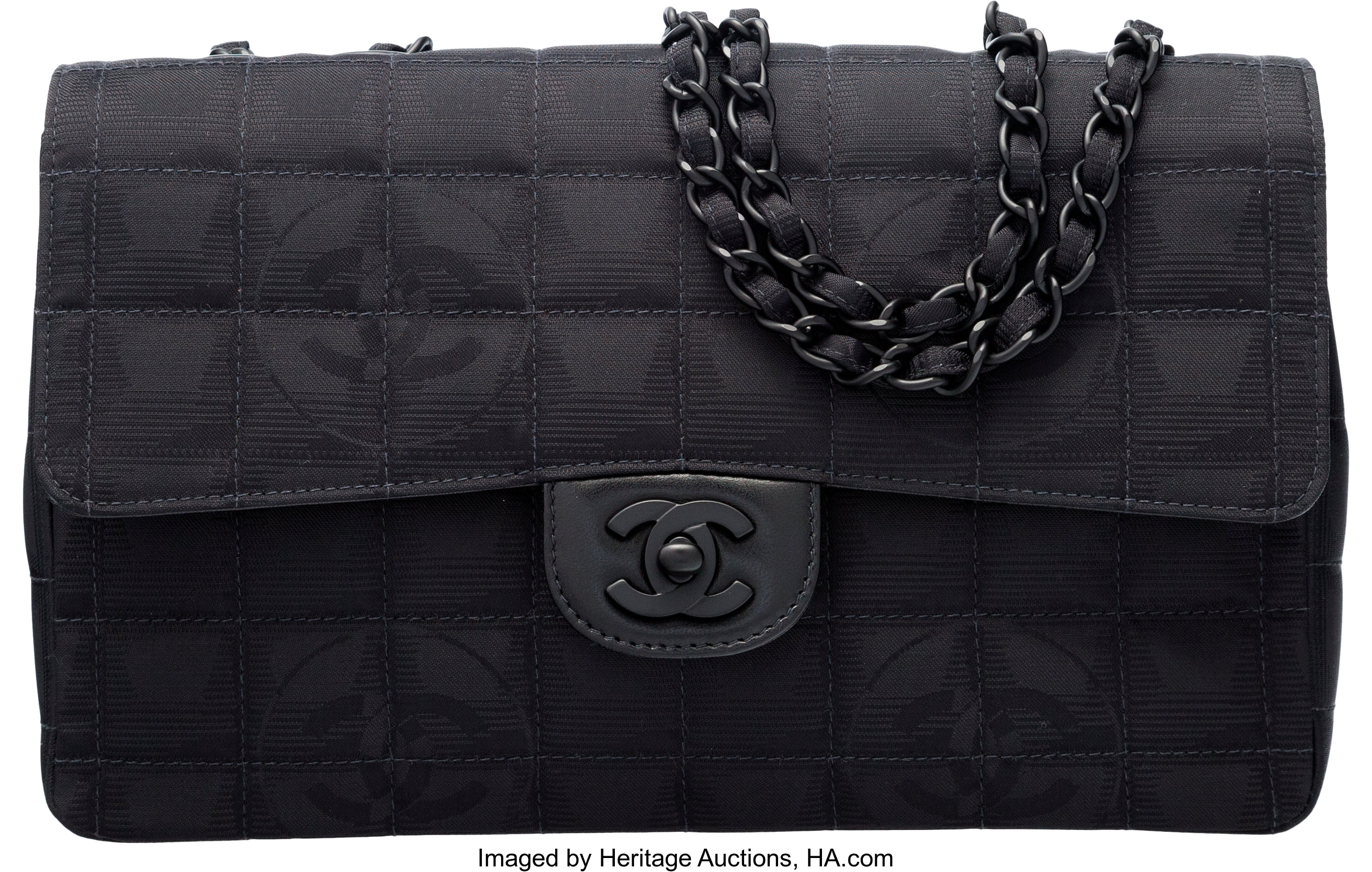 Chanel Black Quilted Grosgrain Medium