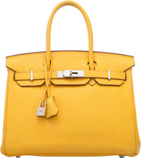 Hermès 30cm Soleil Togo Leather Birkin Bag with Palladium Hardware M Square, 2009 Condition: 2