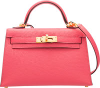 "Hermès 20cm Rose Lipstick Chevre Leather Mini Kelly II Bag with Gold Hardware A, 2017 Condition: 1 7.5"" Widt..."