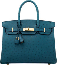 Hermès 30cm Colvert Ostrich Birkin Bag with Gold Hardware X, 2016 Condition: 1 11.5