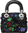 "Luxury Accessories:Bags, Christian Dior Black, Purple & Green Sequin Embellished Mini Lady Dior Bag. Condition: 1. 7"" Width x 5.5"" Height x 3"" ..."