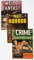 Golden Age (1938-1955):Science Fiction, EC Comics Group of 4 (EC, 1950s) Condition: Average VG.... (Total: 4 Comic Books)