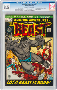 Amazing Adventures #11 (Marvel, 1972) CGC VF+ 8.5 Off-white to white pages