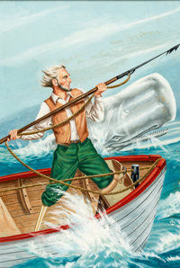 John Parker Classics Illustrated #5 Moby Dick Cover Paintin