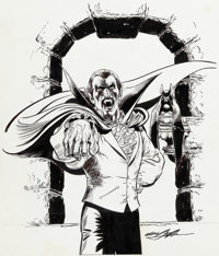 Neal Adams Dynamite Magazine Count Dracula, Lord of the Vampires Pull-Out Poster Illustration Original Art (Schola