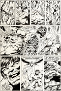 Original Comic Art:Panel Pages, John Byrne and Bob Layton Incredible Hulk Annual #7 Issue Page 39 Original Art (Marvel, 1978)....