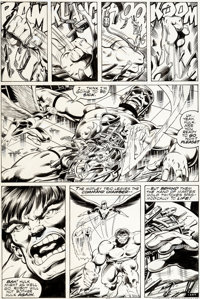 John Byrne and Bob Layton Incredible Hulk Annual #7 Issue Page 39 Original Art (Marvel, 1978