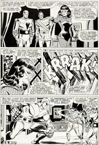 Don Heck and Frank Giacoia The Avengers #29 Story Page 16 Black Widow and Goliath Original Art (Marvel, 1966)