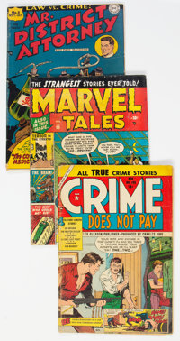 Golden Age Comics Group of 3 (Various Publishers, 1950s) Condition: Average GD/VG.... (Total: 3 Comic Books)