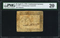 Continental Currency April 11, 1778 $5 Contemporary Counterfeit PMG Very Fine 20