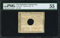 Colonial Notes:New Hampshire, New Hampshire April 29, 1780 $7 PMG About Uncirculated 55.. ...