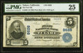 National Bank Notes:California, Tulare, CA - $5 1902 Plain Back Fr. 600 The First NB Ch. # 8626 PMG Very Fine 25.. ...