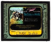 """The Eyes of the World and Other Lot (Arrow Film, 1917). Fine/Very Fine. Glass Slides (2) (3.25"""" X 4""""). Drama..."""