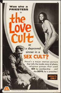 """The Love Cult & Other Lot (Arcanum, 1966). Folded, Overall: Very Fine-. One Sheets (2) (27"""" X 41"""" &..."""