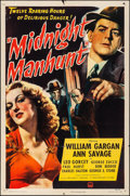 "Movie Posters:Mystery, Midnight Manhunt (Paramount, 1945). Folded, Fine/Very Fine. OneSheet (27"" X 41""). Mystery.. ..."