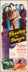 "Movie Posters:Melodrama, Passkey to Danger (Republic, 1946). Folded, Fine/Very Fine. Insert (14"" X 36""). Melodrama.. ..."