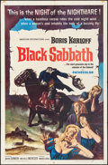 "Movie Posters:Horror, Black Sabbath (American International, 1964). Folded, Fine/VeryFine. One Sheet (27"" X 41""). Reynold Brown Artwork. Horror...."