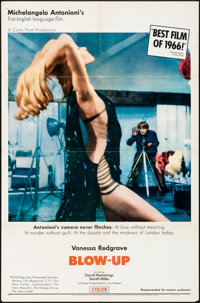 """Blow-Up (MGM, 1967). Folded, Very Fine-. One Sheet (27"""" X 41""""), & Uncut Pressbook (12 Pages, 12.25&quo..."""